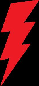 image of red bolt of lightning